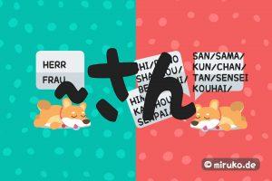 Japanische Anrede für Herr und Frau, Japan Blog, Infografik