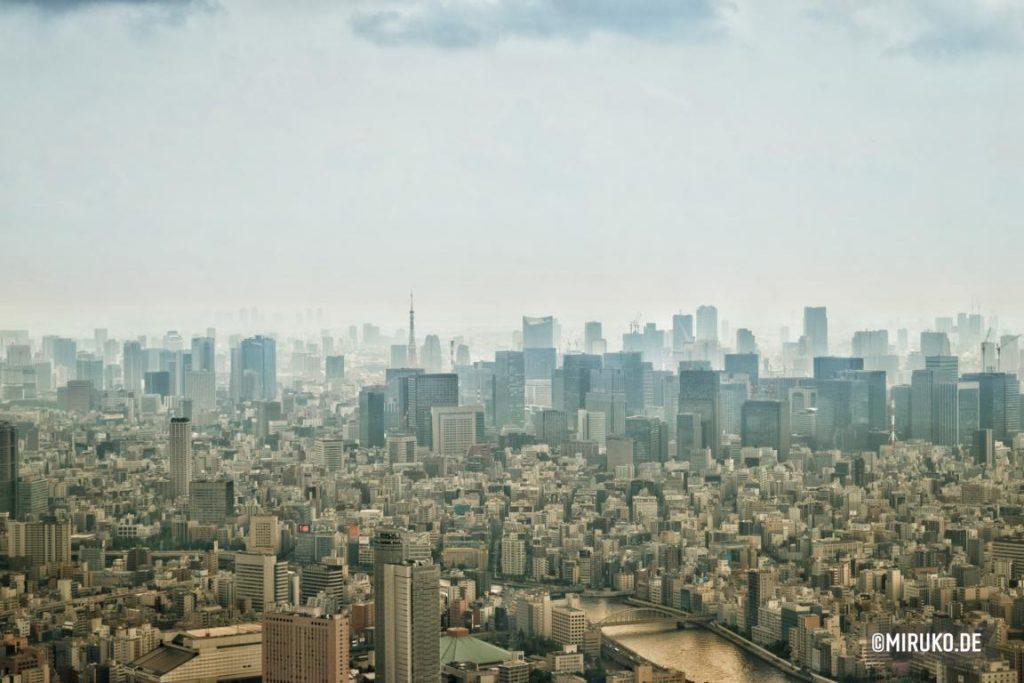 Aussicht vom Tokyo Skytree in Japan, Aussichtsdeck
