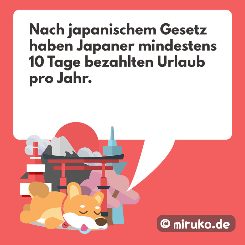Japaner Urlaub pro Jahr, Grafik, Miruko