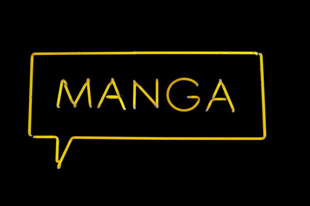Manga Schirftzug, Leuchtreklame