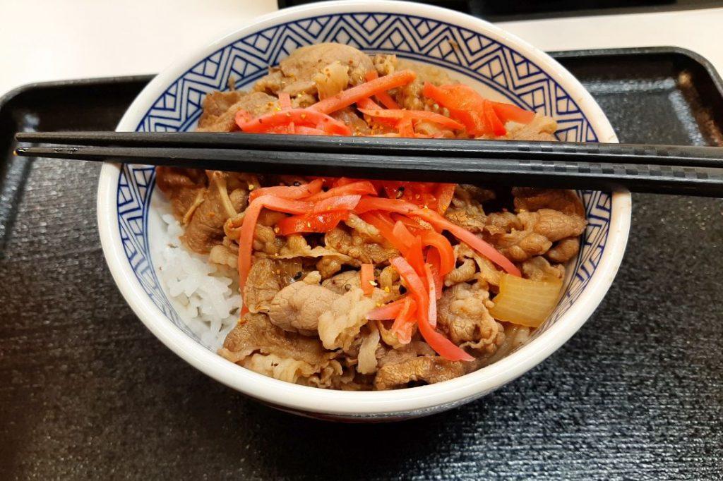 Gyuudon, Reis mit Rindfleisch, Japan