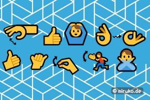 Grafik, Japanische Gesten, Emojis