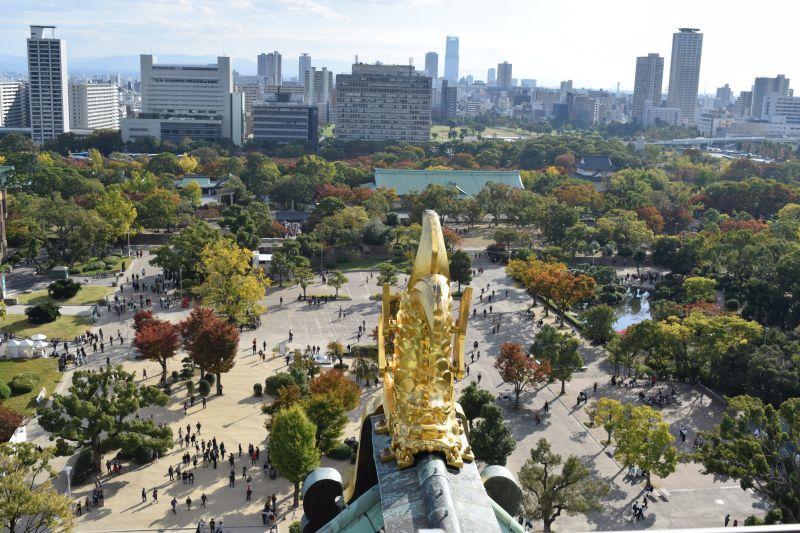 Osaka Castle, Aussichtsplattform, Japan