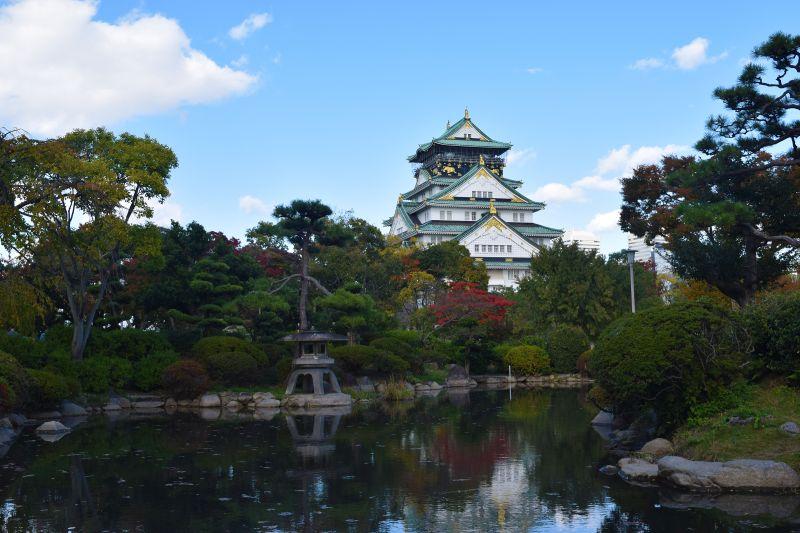 Burg Osaka, Teich, Nishinomaru Garten