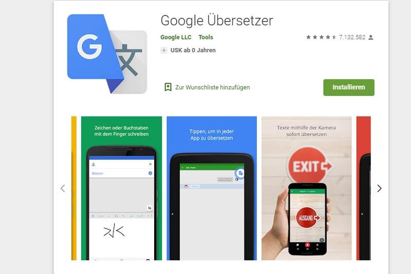 Google Übersetzer App,