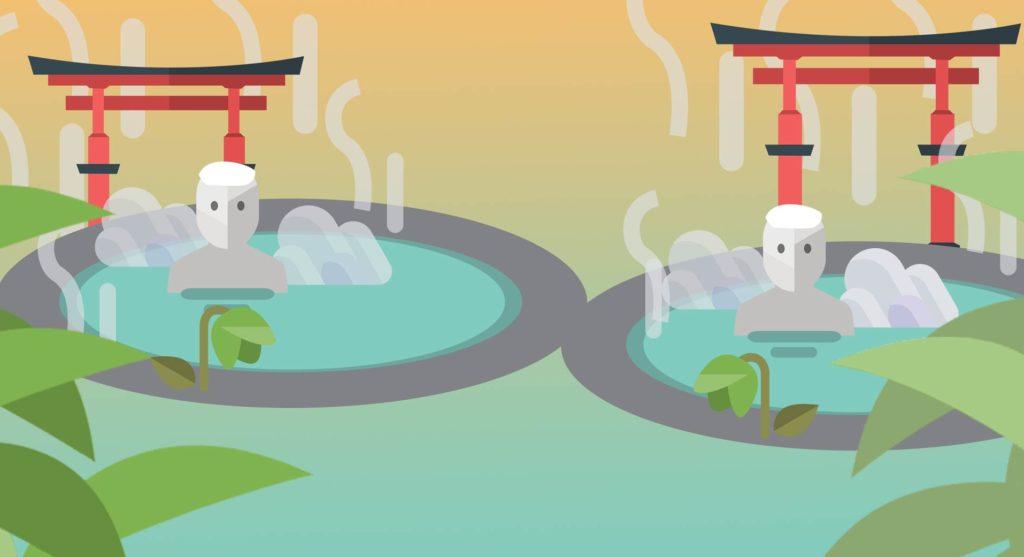 Japanischer Onsen, Grafik
