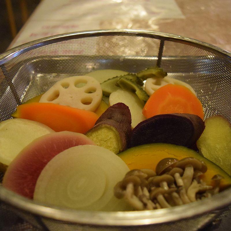Gedünstetes Gemüse, Beppu Restaurant