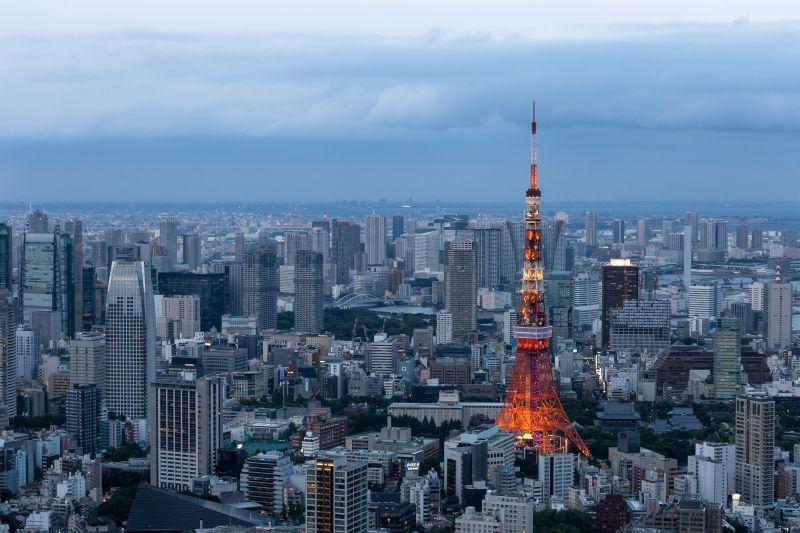 Skyline von Tokyo, Japans Hauptstadt