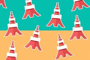 Tokyo Tower, Titelbild, Grafik
