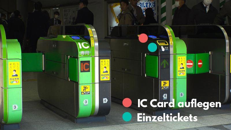Ticketgate, Japan, Zug fahren