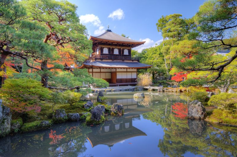 Ginkakuji, Silberner Tempel, Kyoto