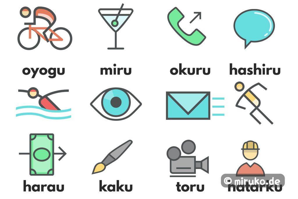 Icons, Japanische Verben