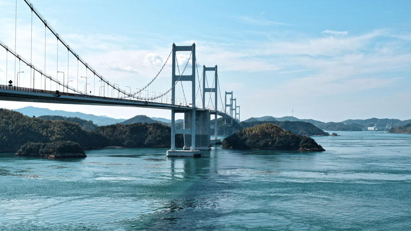 Kurushima Kaikyo Brücke, Shimanami Kaido