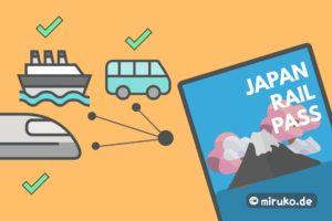Japan Rail Pass, Grafik, Flat Design