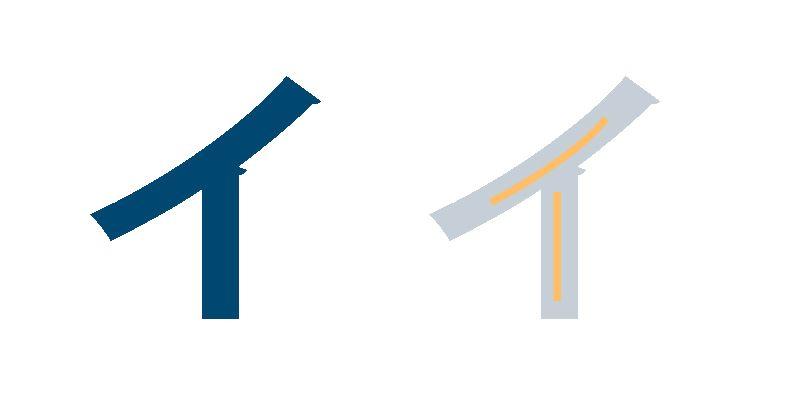 Katakana I, Japanische Schriftzeichen