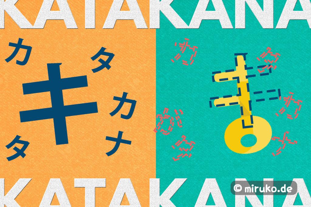 Katakana lernen, Grafik, Miruko japan Blog