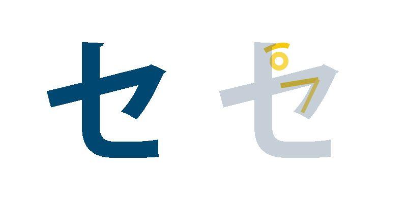 Japanisches Schriftzeichen für Se, Katakana lernen