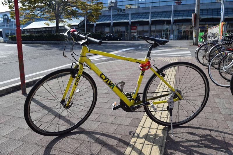 Gelbes Fahrrad, Imabari, Radverleih