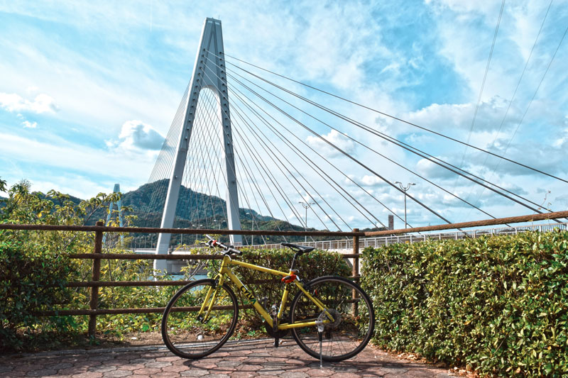 Fahrrad, Ikuchi Brücke, Japan