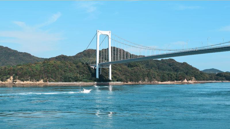 Hakata Oshima Brücke, Shimanami Kaido, Japan