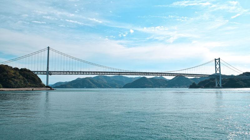 Innoshima Brücke, Shimanami Kaido, Radstrecke Japan