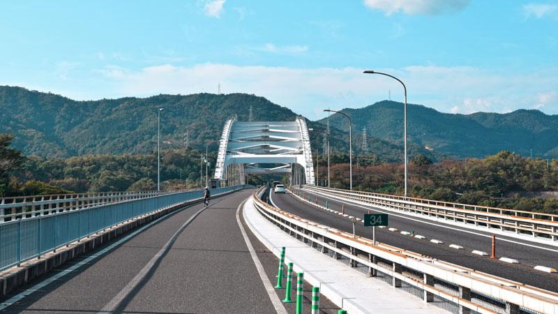 Omishima Brücke zwischen Honshu und Shikoku
