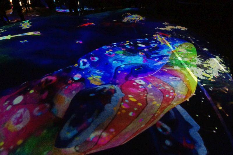 Wal, Lichterprojektion im Digital Art Museum Tokio