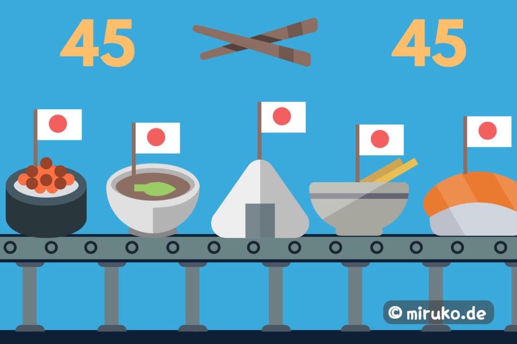 45 Japanische Gerichte, Grafik, Titelbild