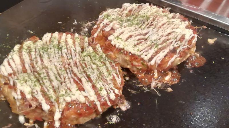 Okonimyaki, Japanischer Pfannkuchen, Japanische Küche