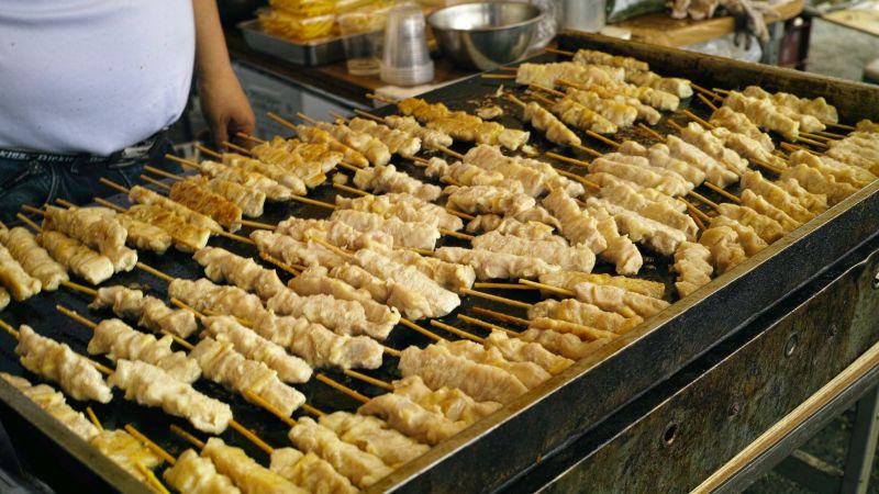Yakitori Spieße, Streetfood, Japan