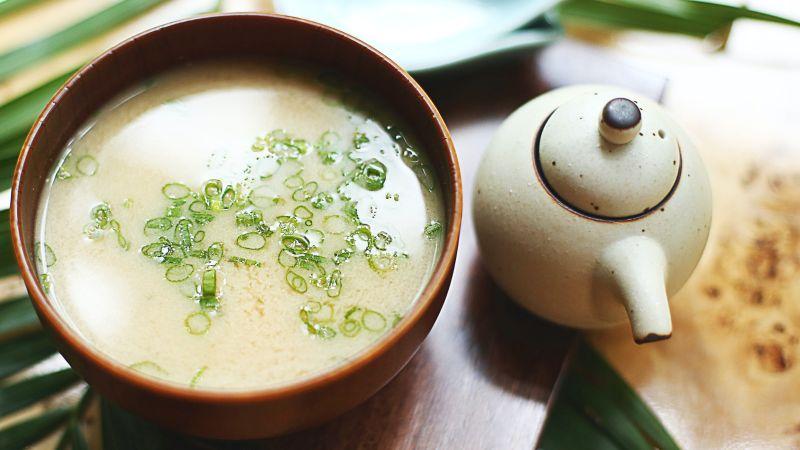 Miso Suppe. Japanisches Gericht