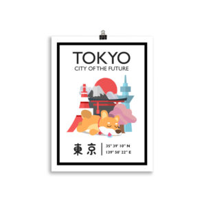 Tokyo Poster, City of the Future, Japan Wanddekoration