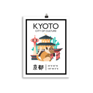Kyoto Poster, City of Culture, Japan Wanddekoration