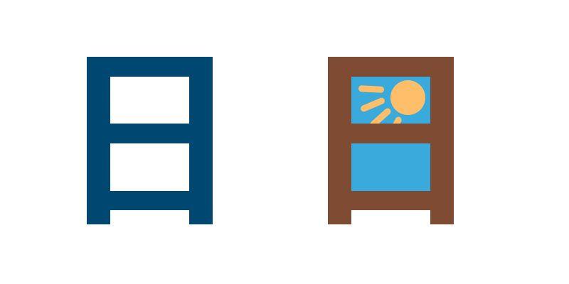 Kanji für Tag, Mnemonic, Eselsbrücke, Japanisches Schriftzeichen