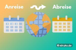 Japan Reisedauer, Grafik, Wie viele Tage für Japan