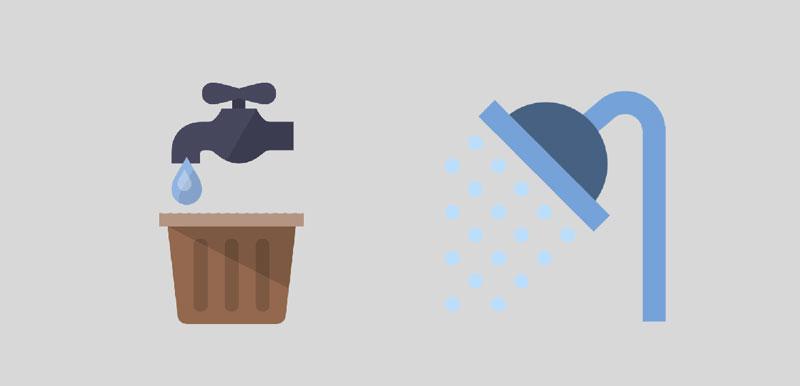 Duschbereich, Waschbereich, Sento