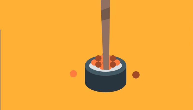 Essen aufspießen, Sushi, Japanische Tischamnieren