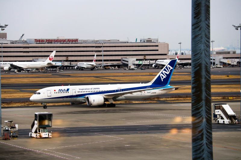 ANA, All Nippon Airways, Flug nach Japan